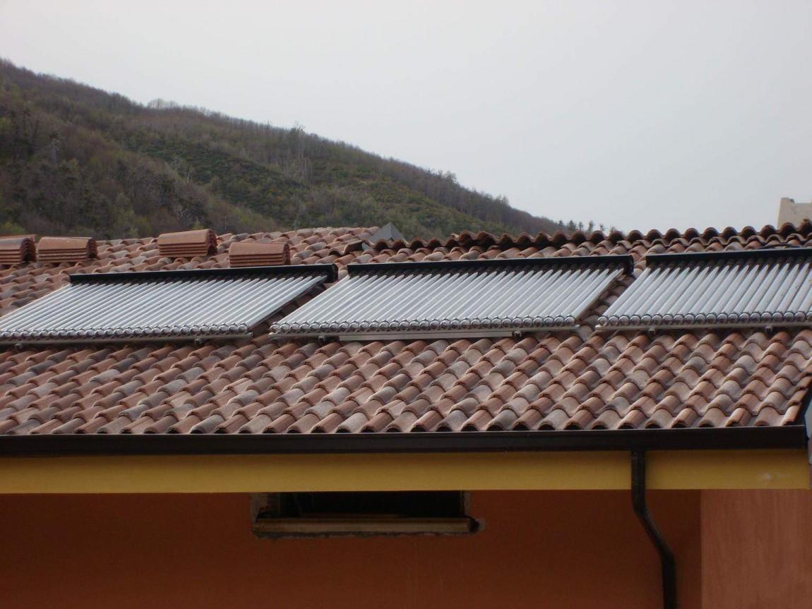 Impianto solare e a pavimento