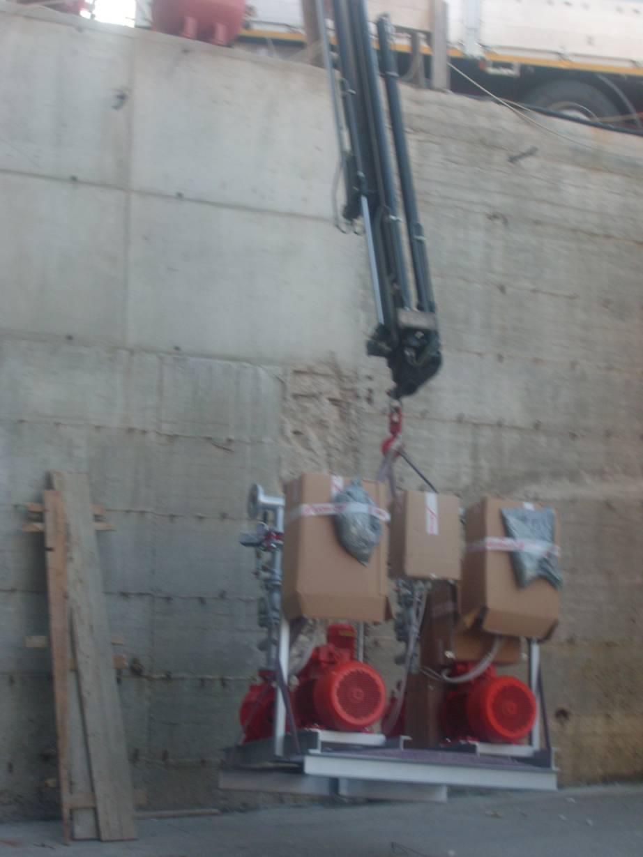Impianto antincendio 35000 litri