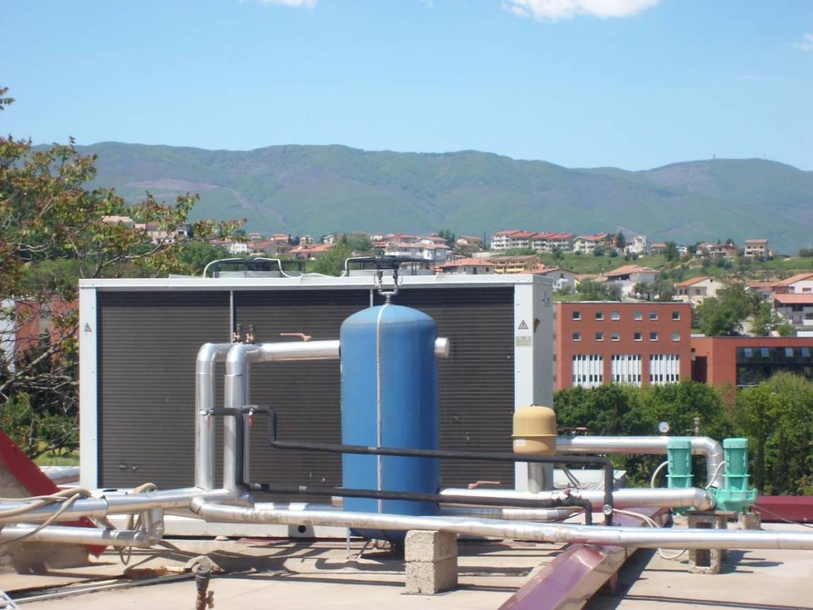 Impianto di condizionamento industriale kw 100